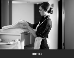 Hotel disposable towels